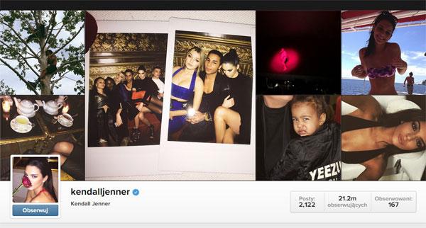 źródło: Instagram Kendall